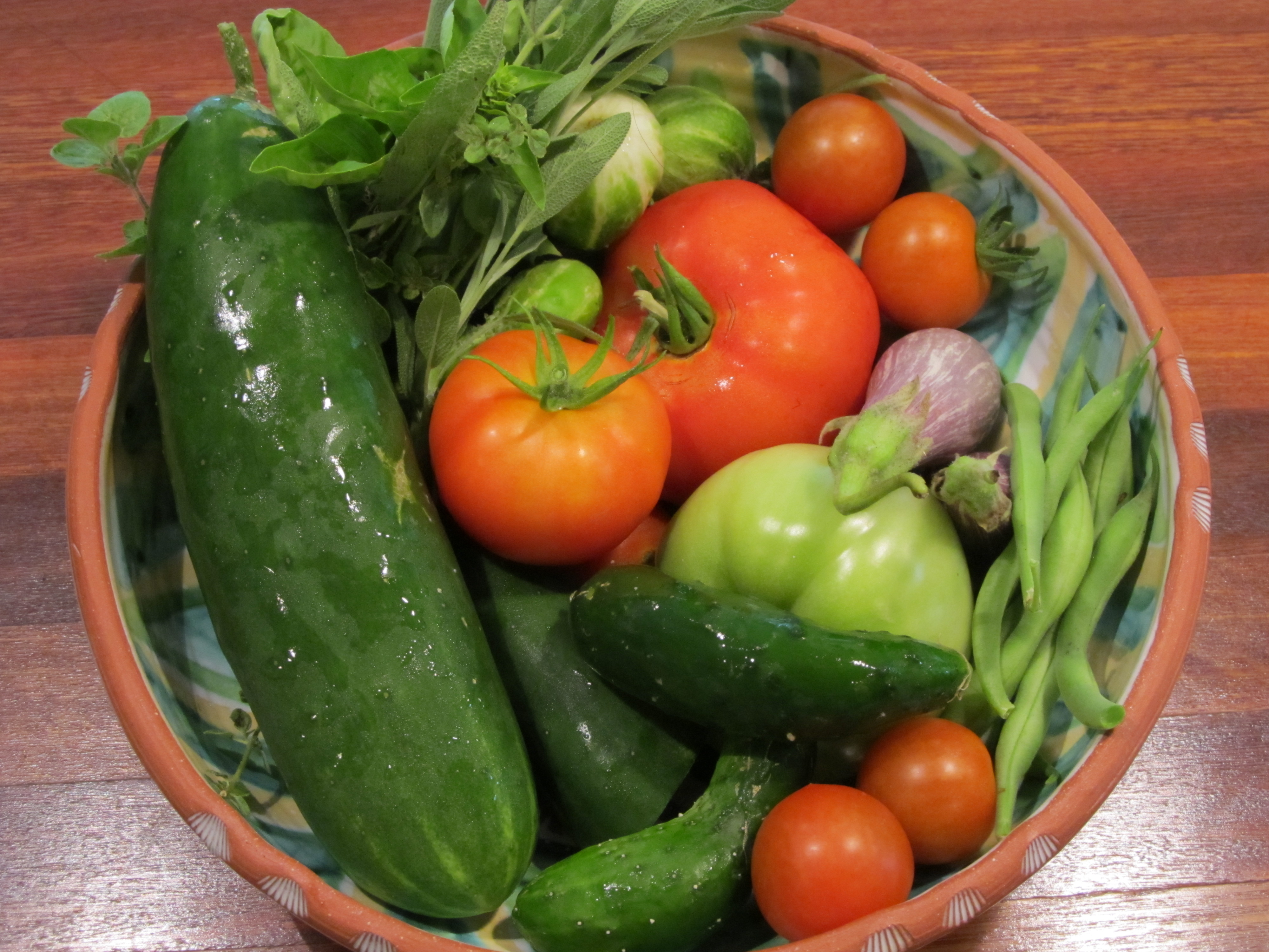 Mid summer New Hope garden harvest organic style Fresh in the